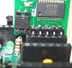 FTDI USBPower +5V naar moederbord