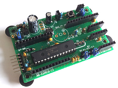 28PIC basis print als kit met de 18F25K20 en 3,3V regulator