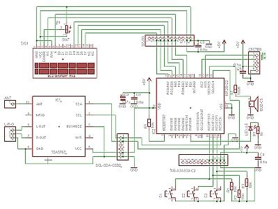 schema 28PIC board met TEA5767 en PIC 18F25K22