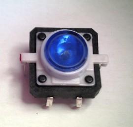 Schakelaar 12 x 12mm met Blauwe LED