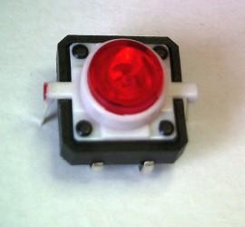Schakelaar 12 x 12mm met Rode LED
