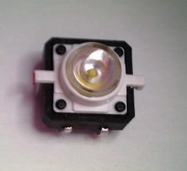 Schakelaar 12 x 12mm met Witte LED