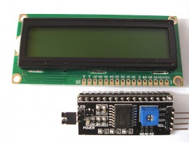 I2C LCD Opsteek bordje + 1602 LCD