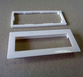 Witte bezel voor 16x2 LCD display