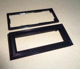 Zwarte bezel voor 16x2 LCD display