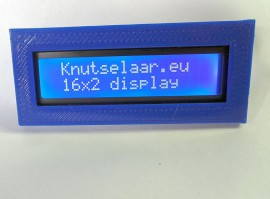 16x2 LCD Display Blauw + Bezel