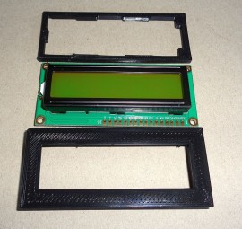 16x2 LCD Display + Bezel