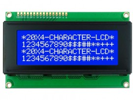 20x4 LCD Display Blauw