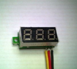 3 Draads Mini Voltmeter