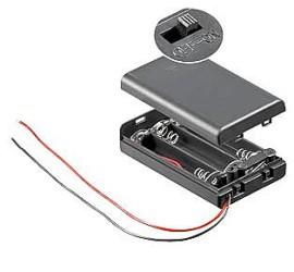 Batterij Houder 3x AAA met kap en schakelaar