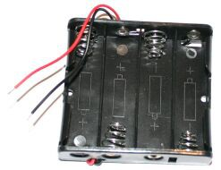 Batterij Houder 4x AA