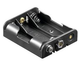 Batterij Houder 3x AA Clip aansluiting