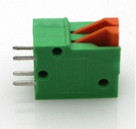 3x 2-Pins Spring Loaded Terminal Block