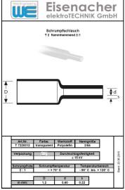 2 meter Krimpkous 1.2 mm transparant
