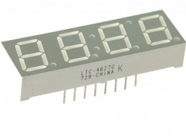 7 Segment 4 digit 0.4 Inch Display Groen