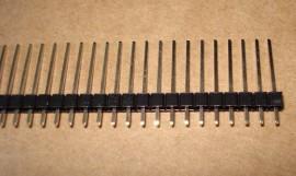 Pinheader 2.54mm 3 x 1x40 pins Recht Male 21mm