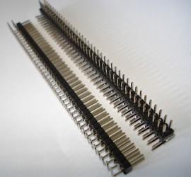 Pinheader 2.54mm  1x  2x40 pins Haaks