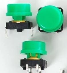 2x Schakelaar 12 x 12mm Groen