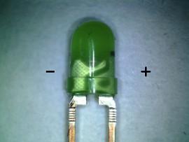 3 mm LED groen met voorschakel weerstand
